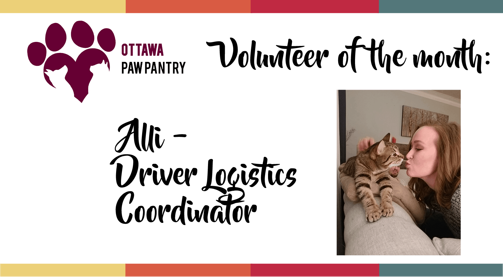 Alli is our Volunteer of the Month!